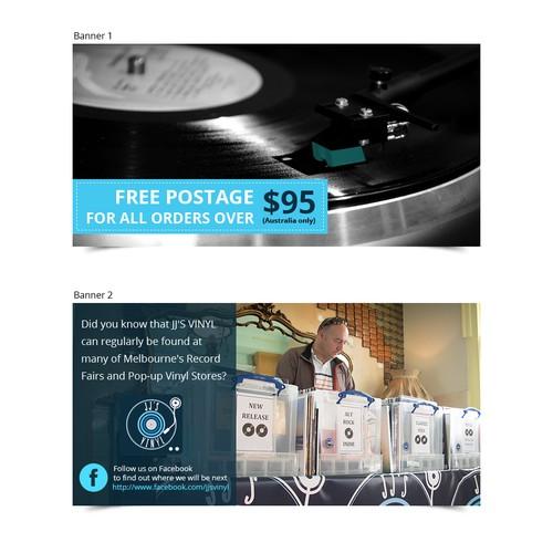 Banner Ad for Vinyl