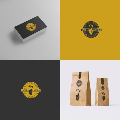 Sacred Grounds logo concept