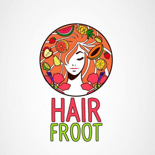 Logo concept for HairFroot
