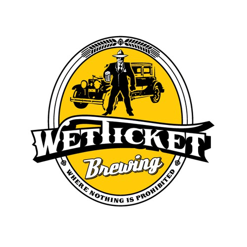 Logo for brewery inspired with prohibition law