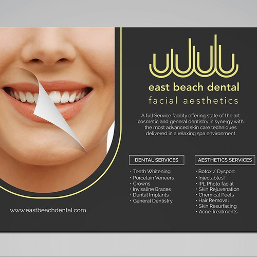 Clean Design Postcard for Dental Spa