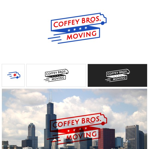 Logo design proposal for a moving company