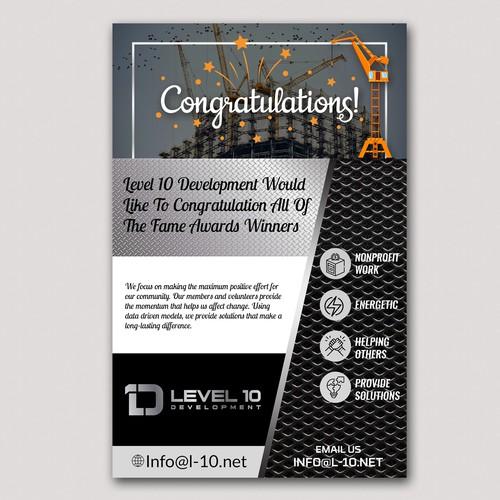 Stunning Congratulations Flyer Design
