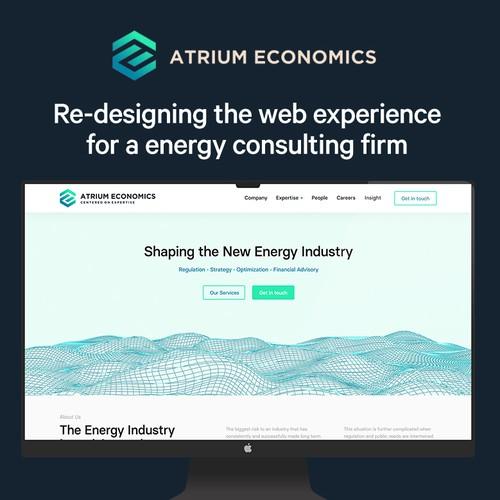 Clean & Minimal Website Design for Energy Consultants