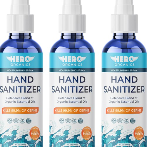 Label design for hand sanitizer