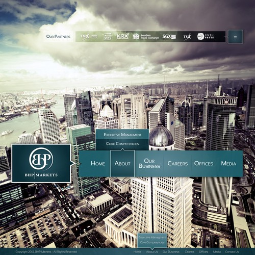 BHP Markets needs a new website design