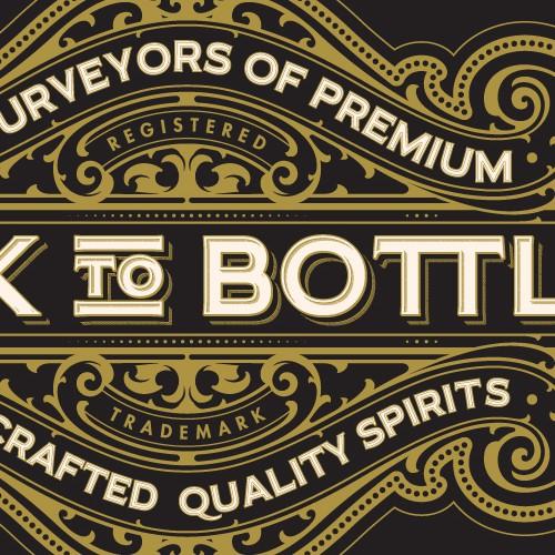 Cask To Bottle - Logo design