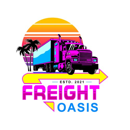 A logo design for a trucking company