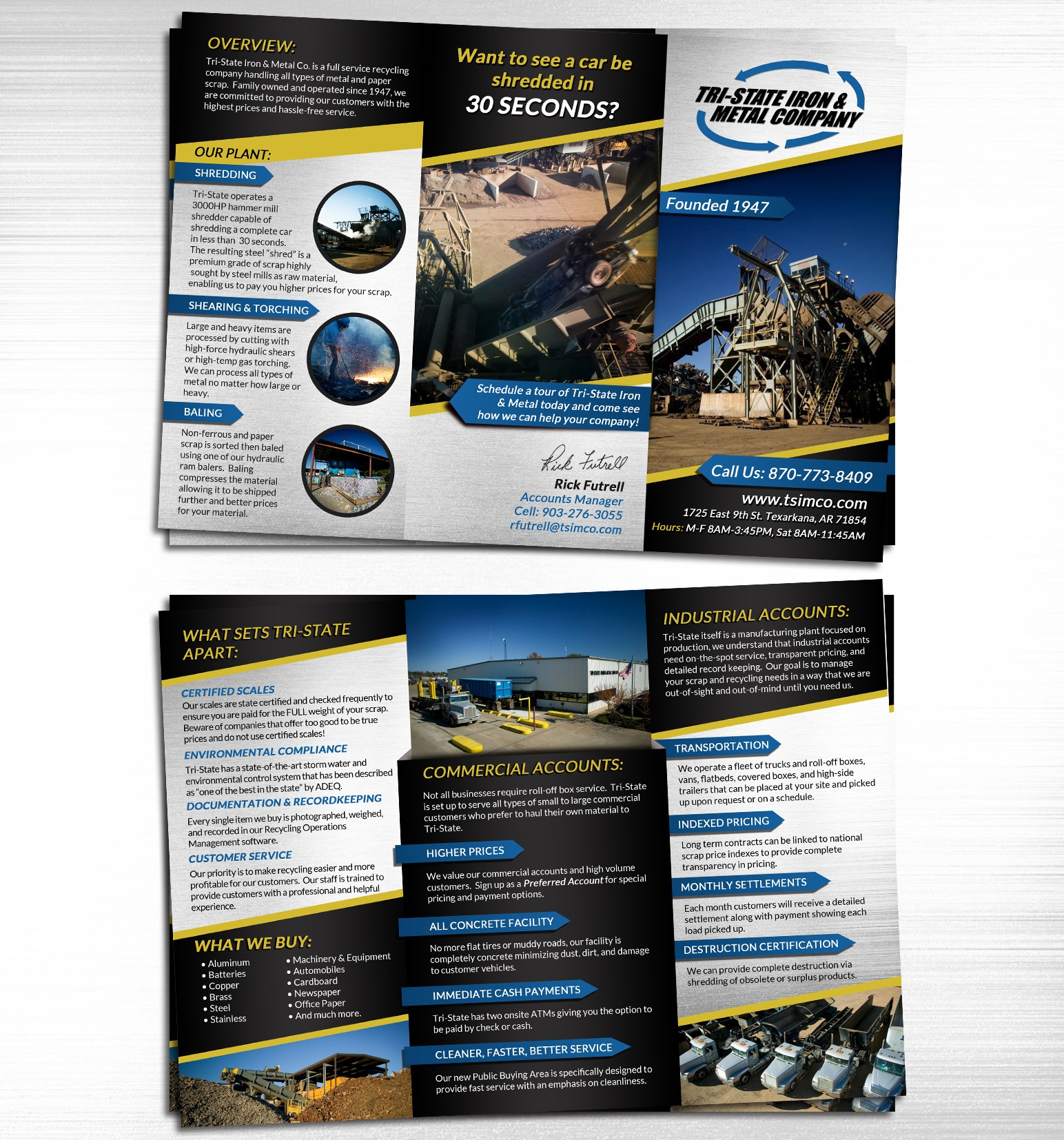 New brochure design wanted for Tri-State Iron & Metal Co.