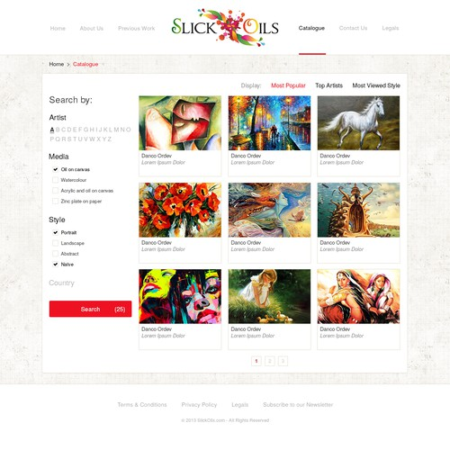 Help Slick Oils new website design
