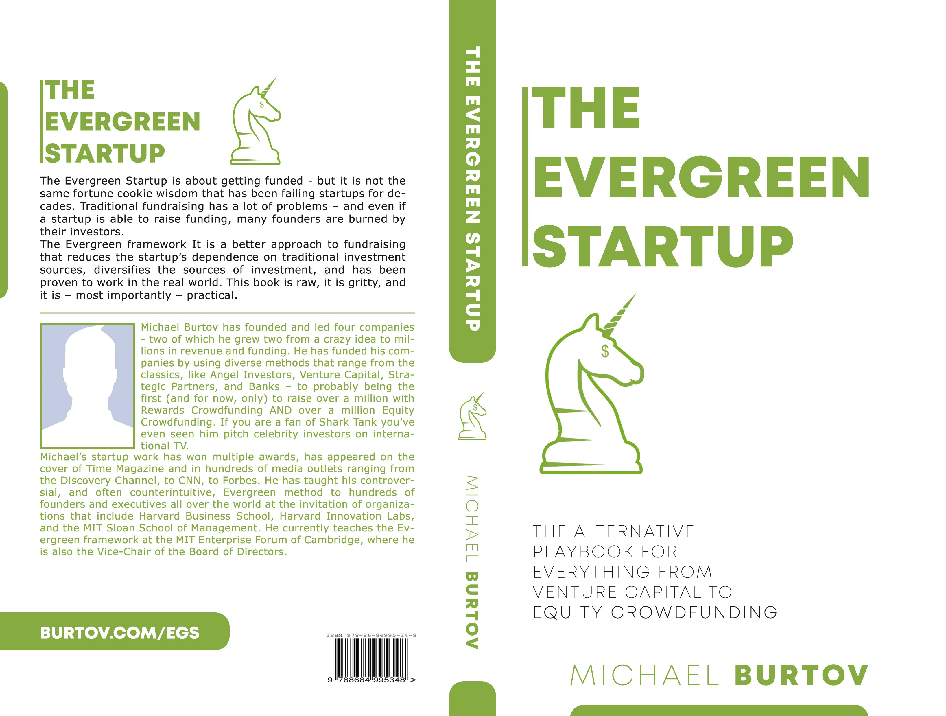Modern and simple book cover about securing funding for startups