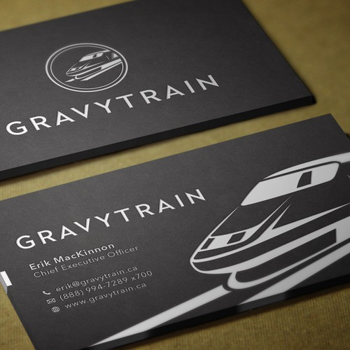Design a mind-blowing, must-keep business card for Gravytrain