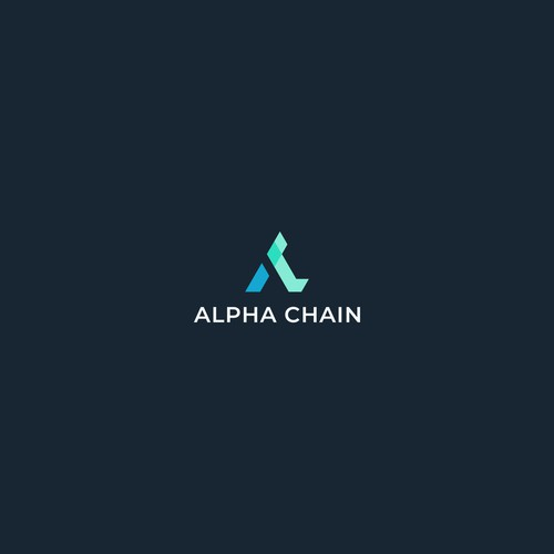 Blockchain and financial data logo