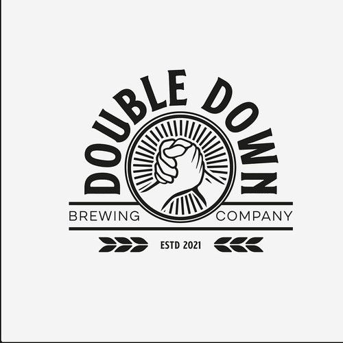 Logo design for Double Down Brewery