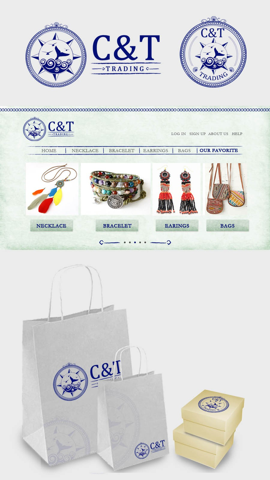 Create the next logo for C & T Trading