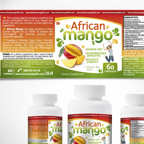 African Mango Life needs a new product label