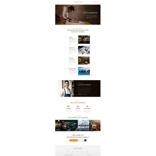 Chef Website Design