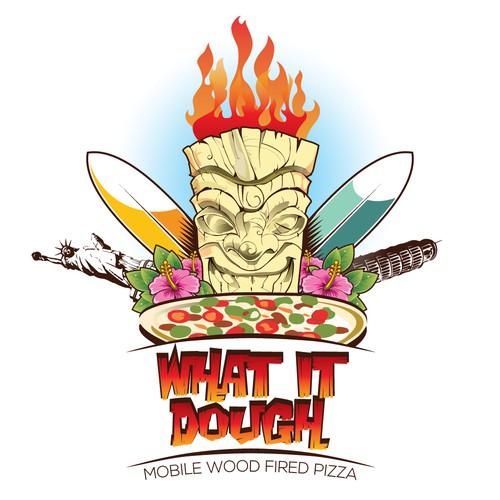 Illustrative logo concept for pizzeria