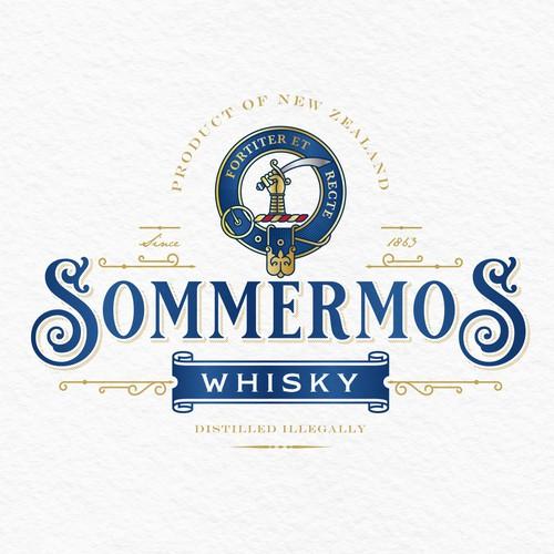 Whisky Brand Logo Design