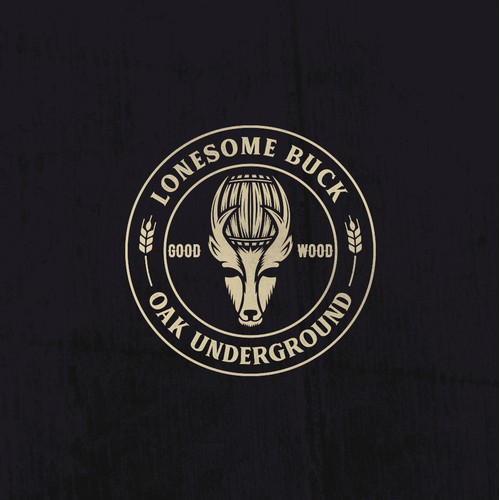 Lonesome Buck - Oak Underground Beer Logo