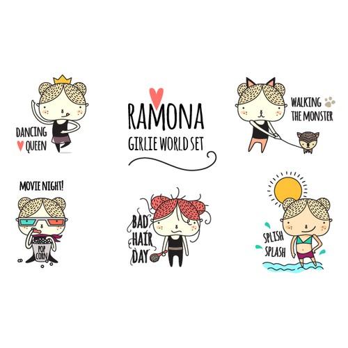 Cute character set