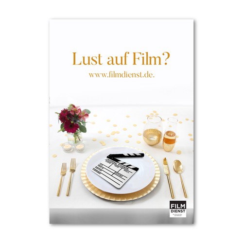 Poster for movie themed website in Germany