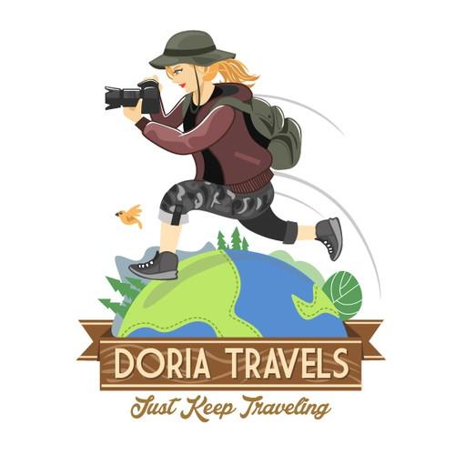 Create a logo for a traver blogger and photographer