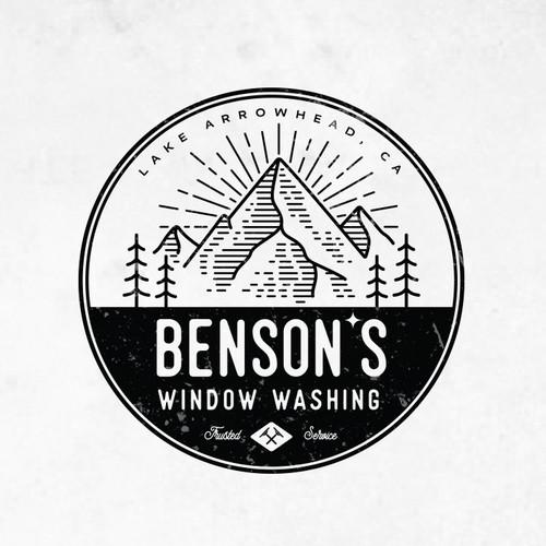 BENSONS WINDOW WASHING LOGOS