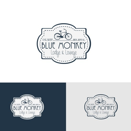 Create a unique, vintage style logo for boutique cycling lodge in Japan