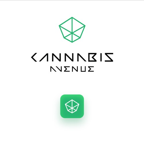 Geometric logo for Cannabis Avenue