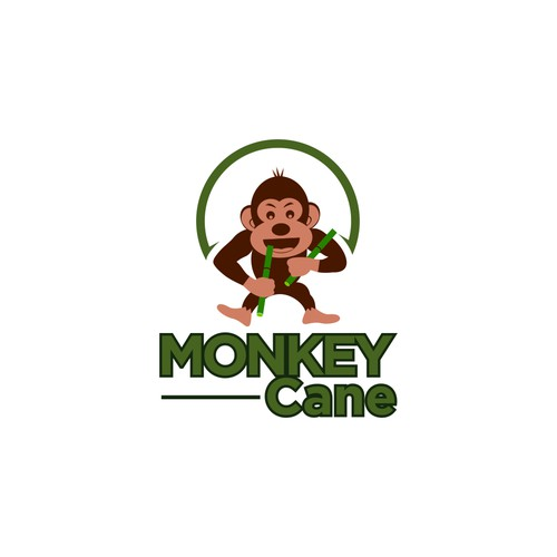 Design a funky Monkey logo for our Sugarcane juice bar.