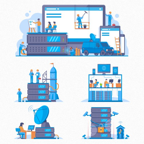Web Hosting Illustrations