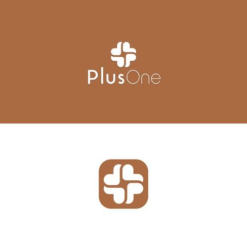 Logo and iOS app icon for PlusOne