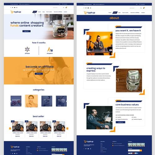 Website Design for Content Services