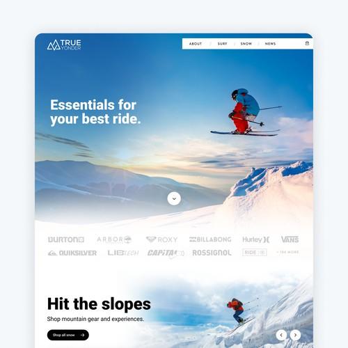 Marketing Website for Snow / Surf Company