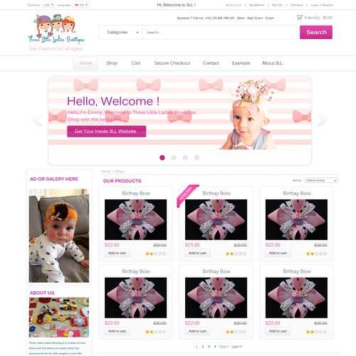 Create ecommerce site for Hair Fashions
