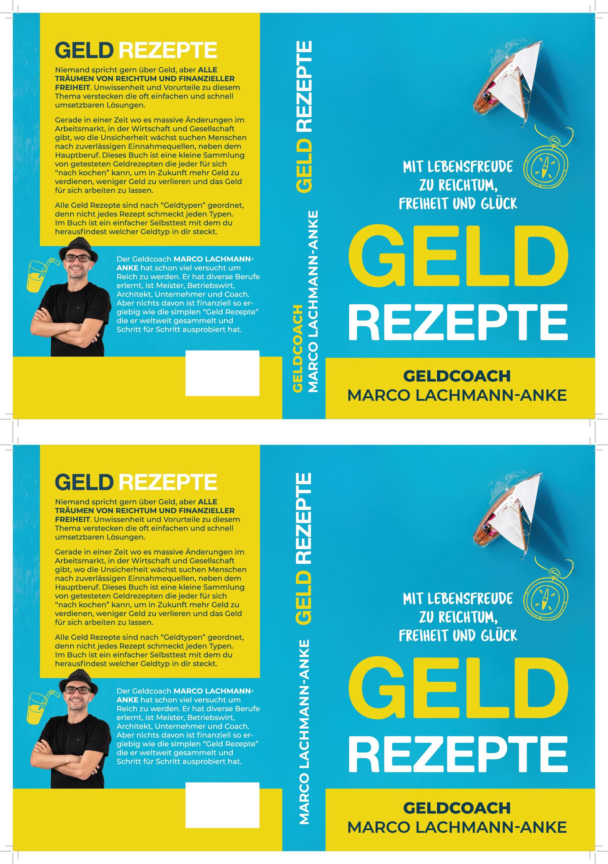 """Erstelle ein Cover Design für das Buch """"Geld Rezepte"""""""