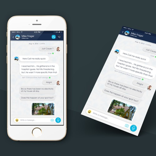 UI/UX Chat screen design