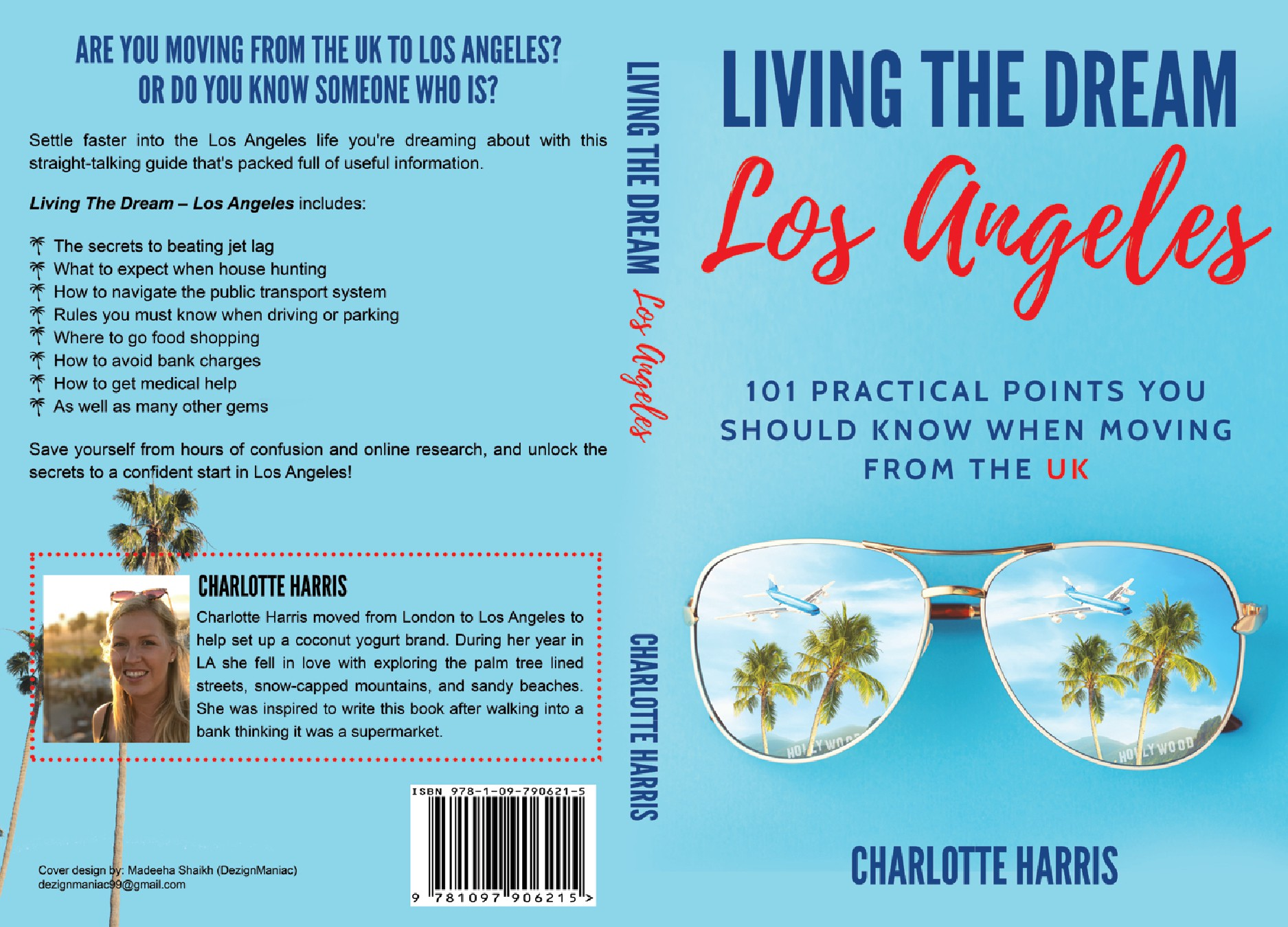 Bright book cover for Los Angeles
