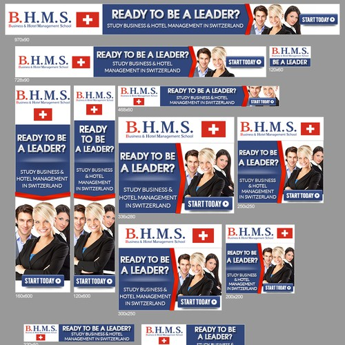 Banner Ad Design - New banner ad wanted for BHMS Business and Hotelmanagement School Switzerland