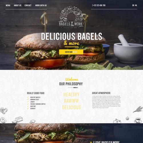 Webdesign for Bagels&More