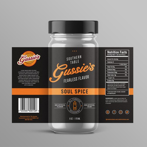 Gussie's product label