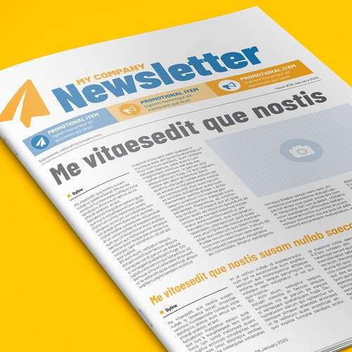 Bold, user-friendly newsletter template