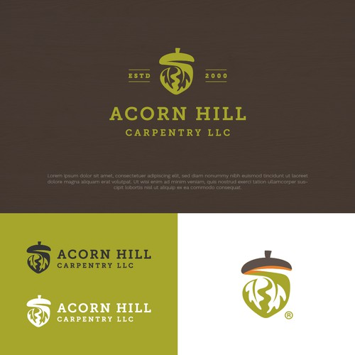 Finalist in Contest Logo of Acorn Hill Carpentry LLC
