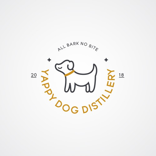 Positive logo for Yappy Dog Distillery