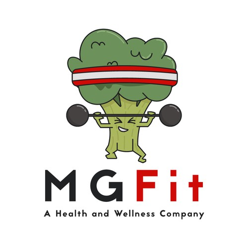 Character logo for a fitness company