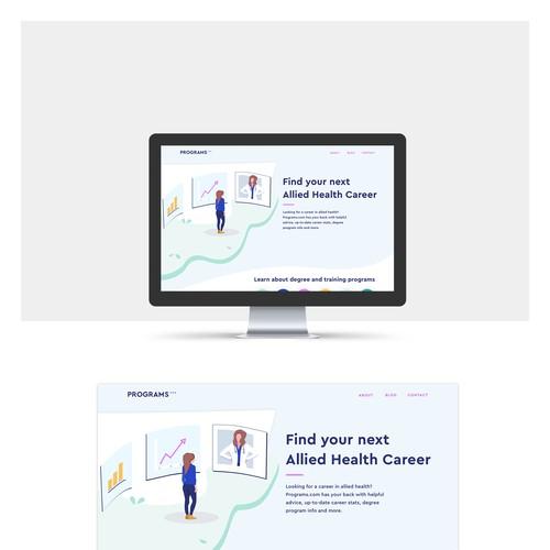 Relaunch of health career site Programs.com