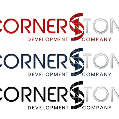 Create the next logo and business card for Cornerstone Development Company