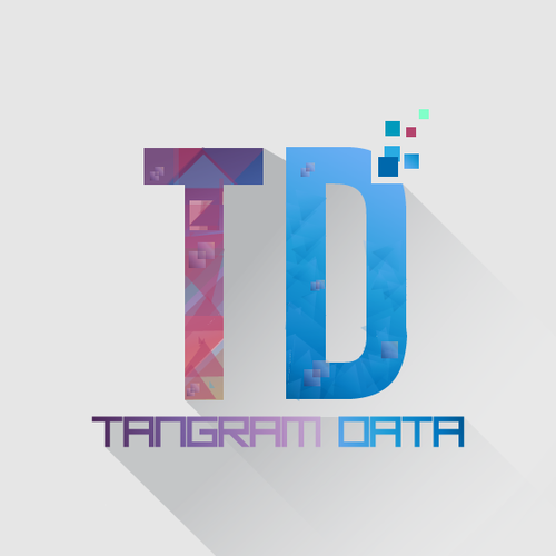 Create design using ancient tangram puzzle concept w/ big data, social, technology vibe of 2000's.