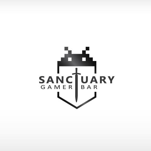 logo for Sanctuary Gamer Bar